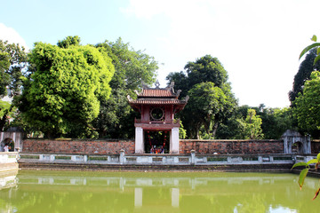The temple in Vietnam