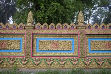 The temple in Vietnam