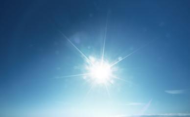 blue sun and sky