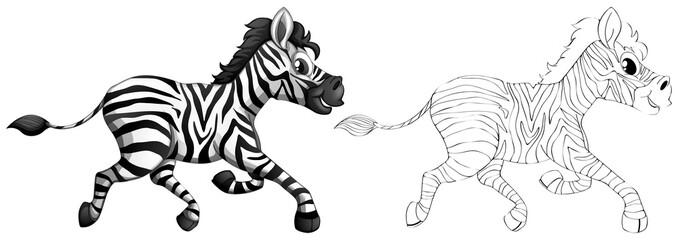 Doodle animal for zebra