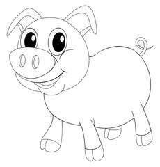 Doodle animal for little pig