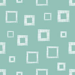 Seamless vector geometrical pattern with rhombus, squares, rectangles endless background with hand drawn textured geometric figures. Pastel Graphic illustration Template for wrapping, web backgrounds