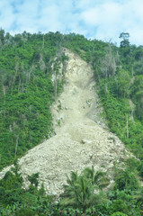 Collapse limestone hill in the Philippines photo image