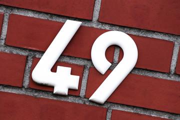 Hausnummer 49