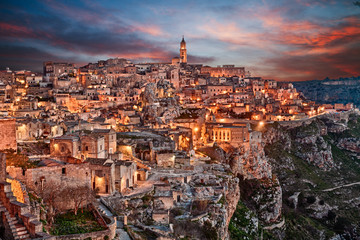 Matera, Basilicata, Italy: landscape of the old town