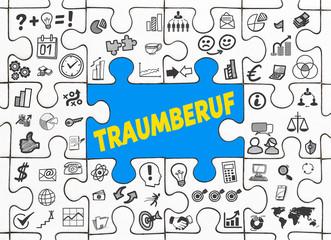 Traumberuf / Puzzle mit Symbole