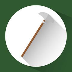 peak gardening tool over green background. colorful design. vector illustration