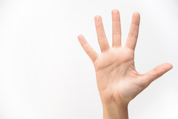 human hand on white background isolated