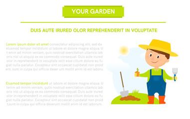 Gardener with flower