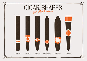 Different cigar shapes and sizes