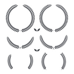 Laurel wreaths. retro vintage premium quality. Vector illustration.