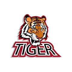 Logo of the Bengal tiger for printing on T-shirts and cool baseball caps