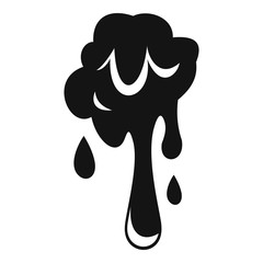 Dripping slime icon, simple style