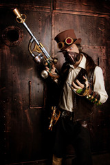 Man in Steampunk style