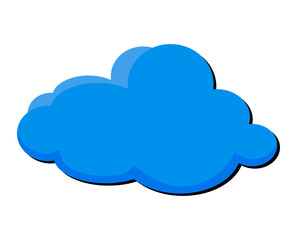 cartoon cloud vector symbol icon design.