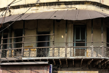 old dehli buildings food streets market
