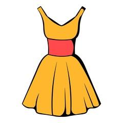Dress icon, icon cartoon
