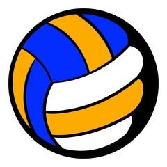 Volleyball ball icon, icon cartoon
