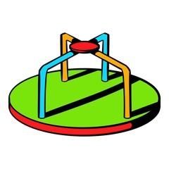 Colorful merry-go-round icon, icon cartoon