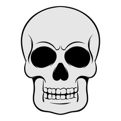 Skull icon, icon cartoon
