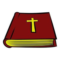 Bible book icon, icon cartoon