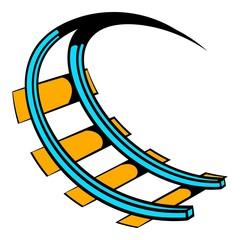 Roller coaster ride icon, icon cartoon