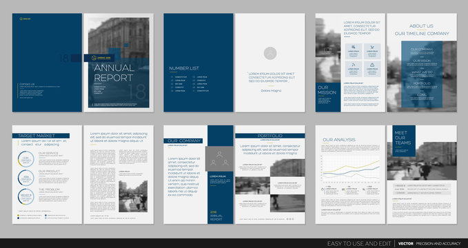 Design annual report,vector template brochures