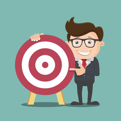 Businessman with target , Business concept - vector illustration