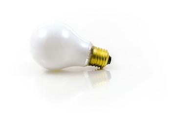 Bulb light over the white background