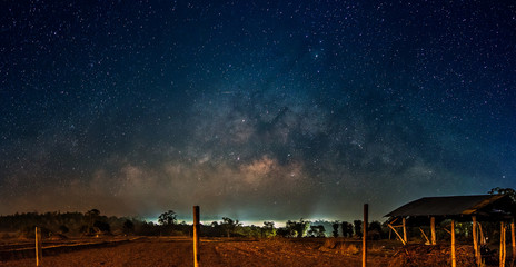 Amazing Star Night - night scene milky way background in the galaxy.