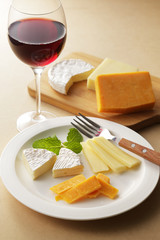 チーズとワイン Cheese and red wine