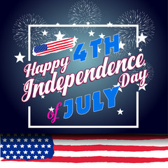 Fireworks background for USA Independence Day. Fourth of July celebrate