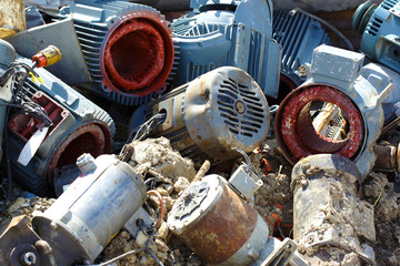 Scrap metal in junkyard