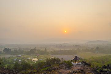 sunset over the mountain, Khao Yai National Park, Thailand