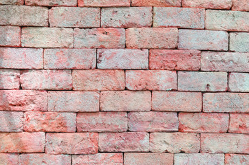 brick wall texture grunge background with vignetted corners of interior