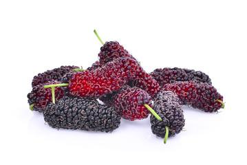 fresh mulberry isolated on white background