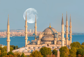 "The Blue Mosque (Sultanahmet Camii), Istanbul, Turkey ""Elements of this image furnished by NASA"""