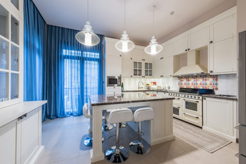 Interior of a luxury kitchen in new apartment