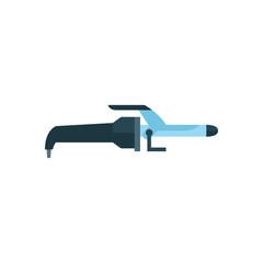 Hair curling iron vector icon