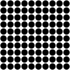 Large black circles on a white background