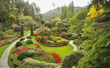 Staande foto Tuin The Sunken-garden on island Vancouver
