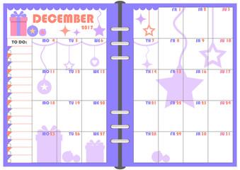 Daily Planner December 2017
