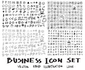 Business arrow bubble set  doodles eps10