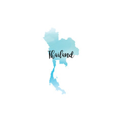 Abstract Thailand map