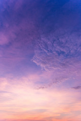 Aluminium Prints Heaven Colorful dramatic sky with cloud at sunset.Sky with sun background.