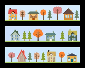 Residential neighborhoods vector