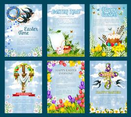 Easter Egg Hunt invitation flyer template set