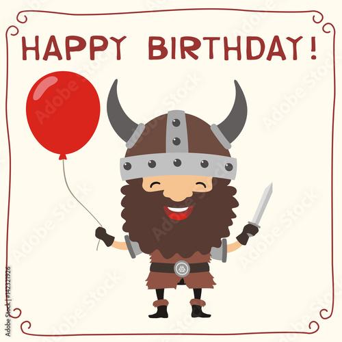 Рассказы для, открытка с днем рождения викинг