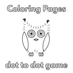 Cartoon Owl Coloring Book