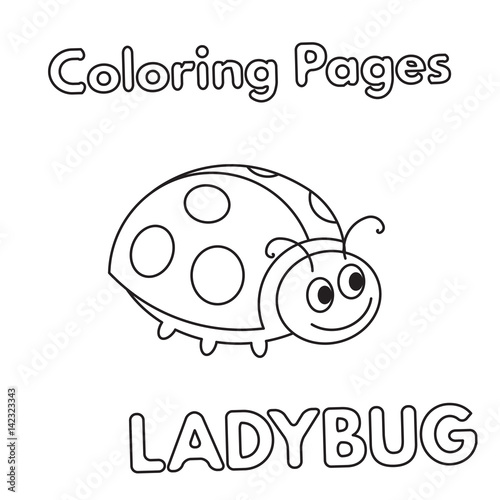 Cartoon Ladybug Coloring Book\